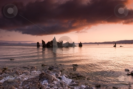 Mono Lake stock photo, Mono Lake is an alkaline and hypersaline lake in California by Mariusz Jurgielewicz