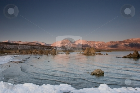 Mono Lake stock photo, Mono Lake is an alkaline and hypersaline lake in California by Mariusz Jurgielewicz