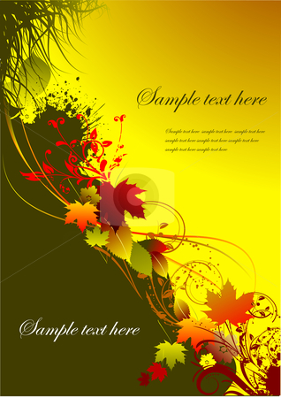 Autumnal leaf background stock vector clipart, Autumnal leaf background, vector illustration by Leonid Dorfman