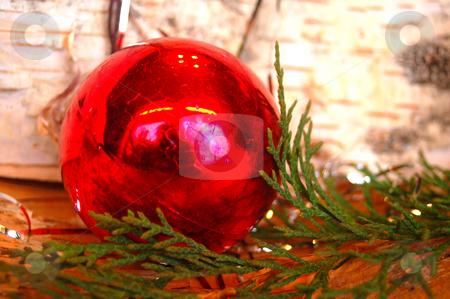 Christmas Ball stock photo, A red christmas ball by Lars Kastilan