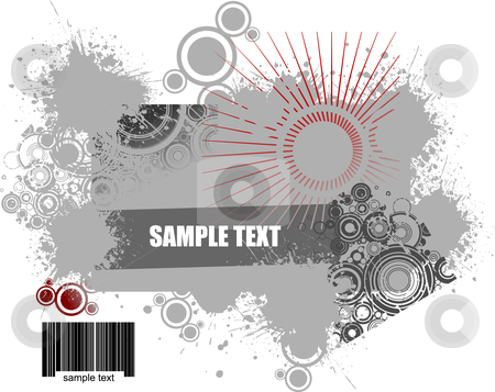 Industrial grunge background stock vector clipart, Industrial grunge background vector illustration by Leonid Dorfman