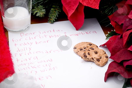 Child's christmas wish list stock photo, Child's christmas wish list by Vince Clements