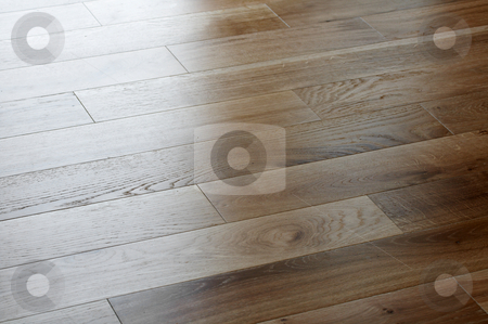Floor light stock photo, A picture of oak wood flooring up close by Glen Jones