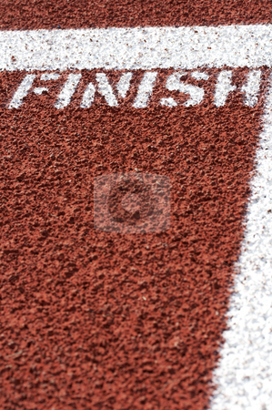 Finished stock photo, A macro picture of a track and field venue by Glen Jones