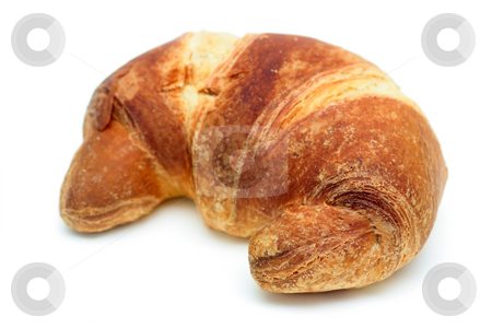 Italian brioche or french croissant stock photo, Italian brioche or french croissant isolated over white. Very shallow DOF by Natalia Macheda