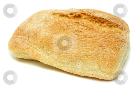 Mediterranean bread stock photo, Typical home-made mediterranean bread isolated over white by Natalia Macheda