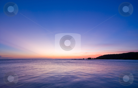 Sea sunset pastel stock photo, Sunset over the sea with nice pastel colors by Karin Claus