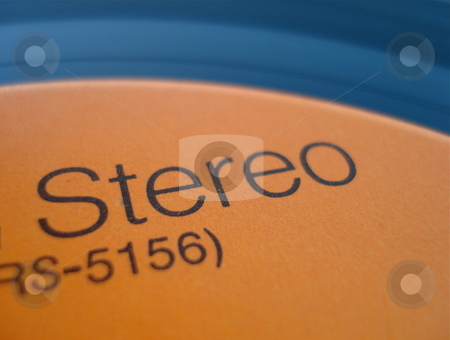 Stereo Record stock photo, An old LP record label. by Ben O'Neal