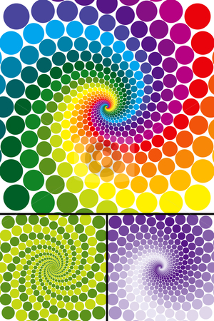 Rainbow swirl with color variations stock vector clipart, Rainbow swirl with color variations, change the colors to make it your own by Adrian Sawvel