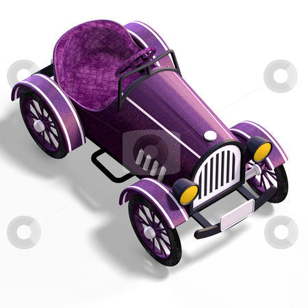 Veteran oldtimer With Clipping Path over white stock photo, Veteran oldtimer With Clipping Path over white by Ralf Kraft