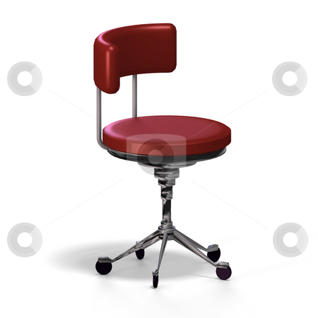 Office chair stock photo, Old fashioned office chair or from medical practise - with Clipping Path by Ralf Kraft
