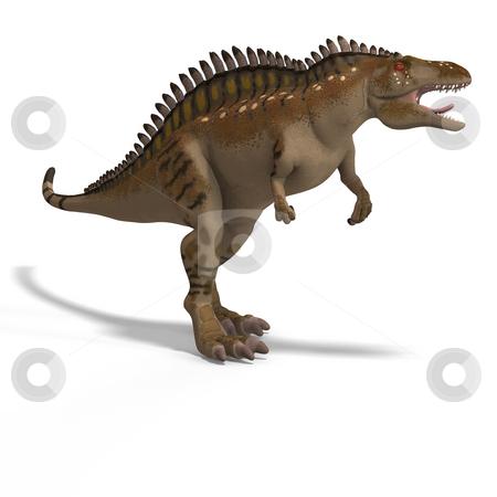 Dinosaur Acrocanthosaurus stock photo, Dinosaur Acrocanthosaurus With Clipping Path over White by Ralf Kraft
