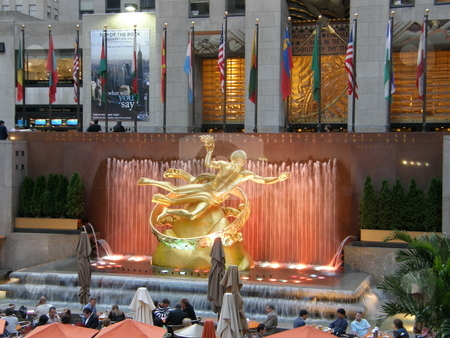 Rockefeller Plaza in New York City stock photo,  by Ritu Jethani