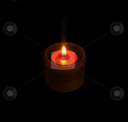 Candlelight  stock photo, Candle glowing on the dark by Francesco Perre
