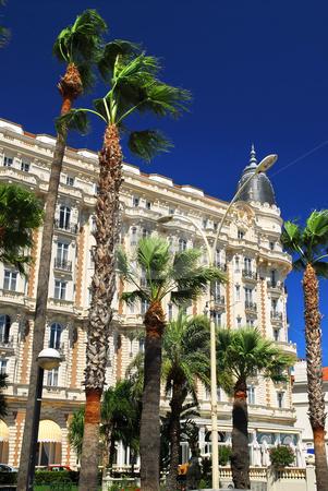 Croisette promenade in Cannes stock photo, Luxury hotel on Croisette promenade in Cannes France by Elena Elisseeva