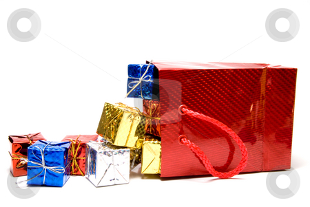 Christmas Presents stock photo, A pile of seasonal presents given during the Christmas season. by Robert Byron