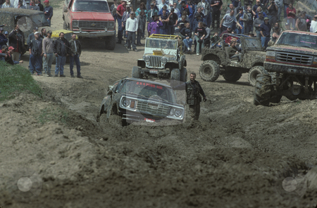 Mud Bog Event stock photo, People having a good time at a mud bog in North Idaho by Mallorey Orcutt