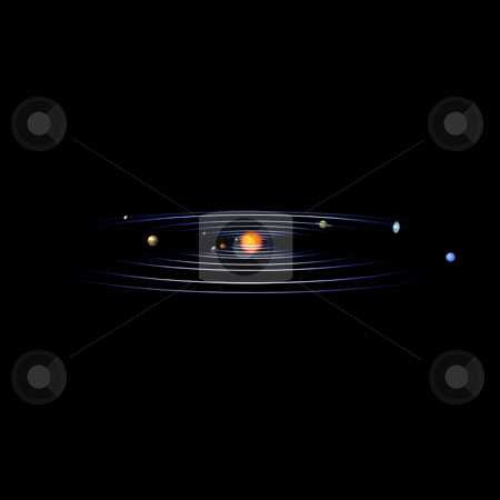 Solar System stock photo, Schematical image of the solar system. With Clipping Path by Ralf Kraft