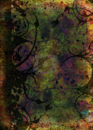 Mottled old floral stock photo, Abstract mottled floral background ideal to place text over by Michael Travers