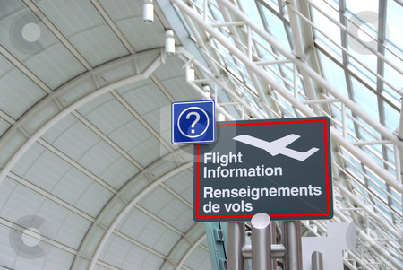 Airport sign stock photo, Flight information sign in international airport by Elena Elisseeva