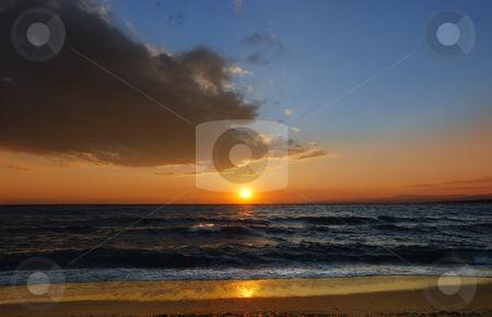 Sunset stock photo, Sunset on a Aegean sea in Greece by Ivan Paunovic