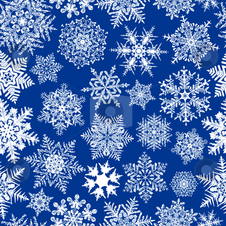 Seamless Repeating Snowflake Background stock vector clipart, Seamless Repeating Snowflake Background by Adrian Sawvel