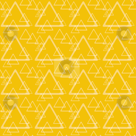 Triangles texture stock vector clipart, Triangles seamless texture in orange and yellow colors by Oxygen64