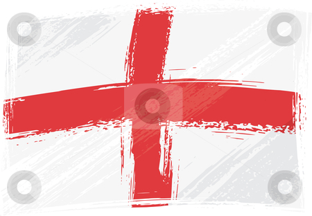 Grunge England flag stock vector clipart, England national flag created in grunge style by Oxygen64