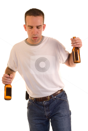 Drunk Man stock photo, A drunk man stumbling while walking by Richard Nelson
