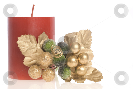 Holiday decoration stock photo, Small group of decorative objects by Angela Arenal