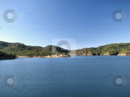Pactola - Black Hills South Dakota stock photo, This Lake Or I should Say Reservoir Is Very Nice To See If Your Out In The Blackhills Site Seeing You Can Camp, Boat ,Fish And Much More The Lake Is Bigger Then What You See In The Picture! by Brian Meyer