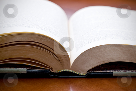 Shallow focus closeup of a book stock photo, Shallow focus closeup of a book by Vince Clements