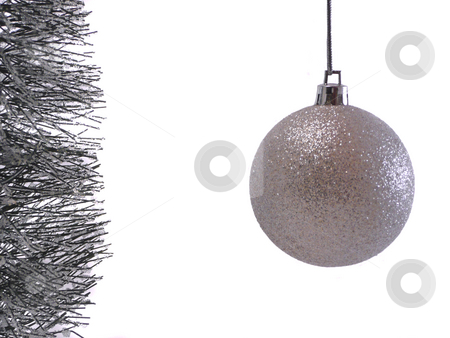 Silver Christmas Ornament stock photo,  by Corinna Walby