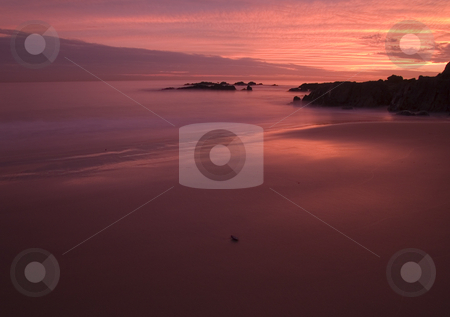 Infinity and Burnt Sand stock photo, Sunset at Crescent Bay Beach - Laguna Beach, California by John McLaird