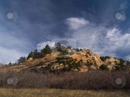 November Sky stock photo, A deep Colorado sky in Roxborough State Park by John McLaird