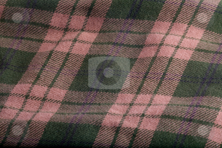 Folded Flannel stock photo, A folded flannel pattern of green and tan. by John McLaird