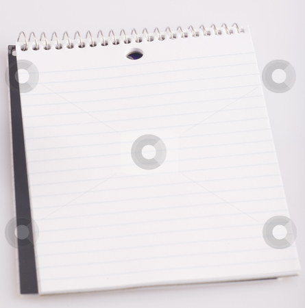 Pocket notebook Empty stock photo, A pocket notebook open to an empty page. by John McLaird
