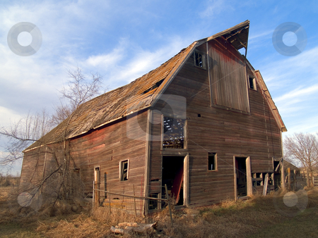 Ruined Barn stock photo, An old ruined barn near Mitchell, South Dakota by John McLaird