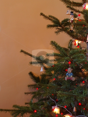 Christmas tree stock photo, Close up on traditional decorated christmas tree by Stephen Gibson