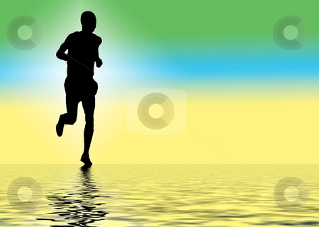 A runner stock photo, A rummer running along water by Andrew Chambers