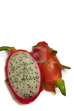 Dragonfruit stock photo, Dragonfruit on white. by Julie Bentz