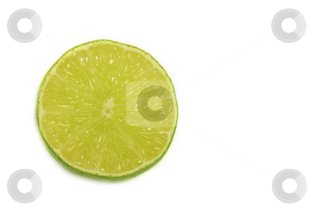 Lime Slice stock photo, Lime slice on white. by Julie Bentz