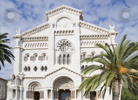 Saint Nicholas Cathedral stock photo, Saint Nicholas Cathedral in Monaco. The cathedral was consecrated in 1875, and is on the site of the first parish church in Monaco built in 1252 and dedicated to St. Nicholas. by Serge VILLA