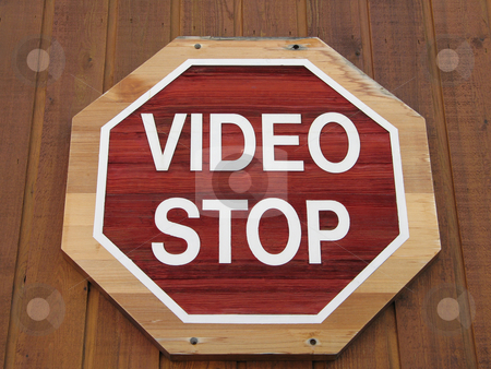 Video stop stock photo,  by Mbudley Mbudley