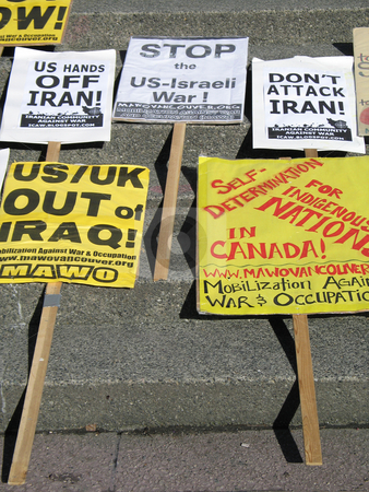 Anti war sign stock photo,  by Mbudley Mbudley