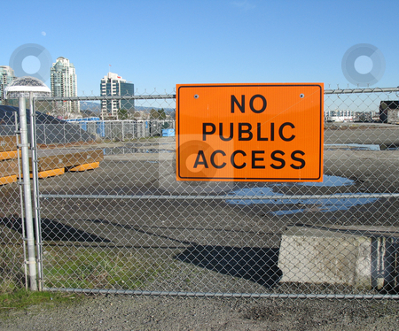 No public access sign stock photo,  by Mbudley Mbudley