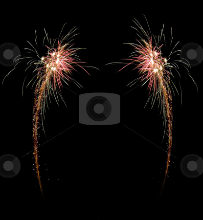 Celebration firework frame stock photo, Image of an explosion of a firework during a celebration by Ivan Montero