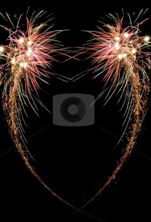 Celebration firework stock photo, Image of an explosion of a firework during a celebration by Ivan Montero