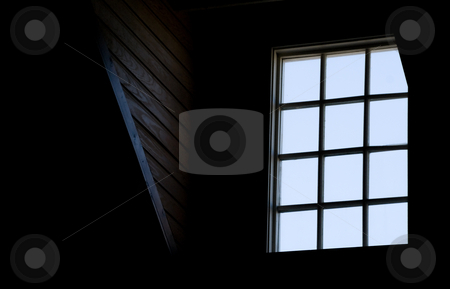Window stock photo, A window in the loft of an old house. by Robert Byron