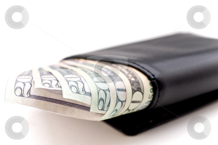 Bills in a wallet stock photo, Bills in a wallet by Vince Clements